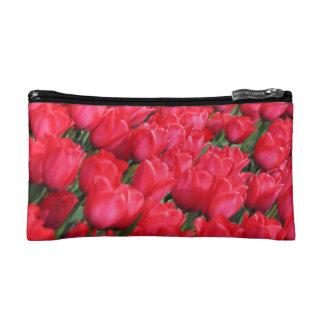 Falln Teppich der hochroten Tulpen Kosmetiktasche