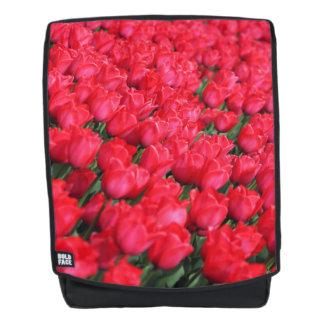 Falln Teppich der hochroten Tulpen Rucksack