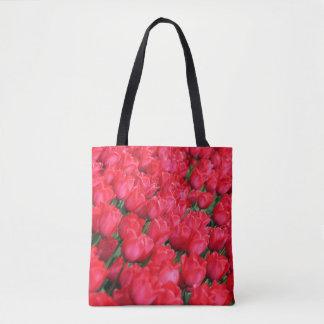 Falln Teppich der hochroten Tulpen Tasche