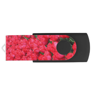 Falln Teppich der hochroten Tulpen USB Stick