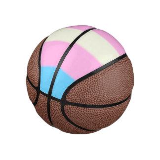 Falln Transgender-Stolz-Flagge Basketball