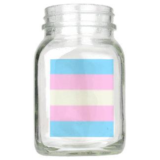 Falln Transgender-Stolz-Flagge Einmachglas