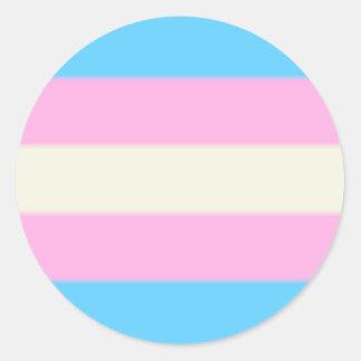 Falln Transgender-Stolz-Flagge Runder Aufkleber
