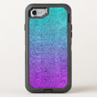 Falln tropische Dämmerungs-Glitter-Steigung OtterBox Defender iPhone 8/7 Hülle