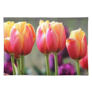 Falln Tulpen brennend Tischset