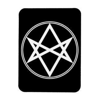 Falln Unicursal Hexagram-Weiß Magnet