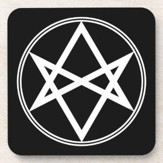 Falln Unicursal Hexagram-Weiß Untersetzer
