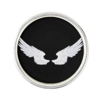 Falln weiße Engels-Flügel Anstecknadel