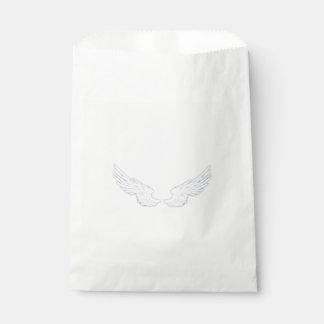 Falln weiße Engels-Flügel Geschenktütchen