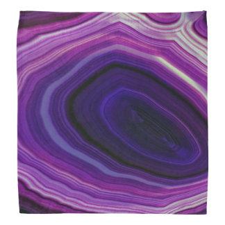Falln wirbelte lila Geode Kopftuch