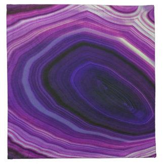 Falln wirbelte lila Geode Serviette