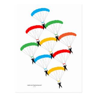 Fallschirm-Bildung Postkarten