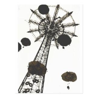 Fallschirm-Fahrt Postkarte