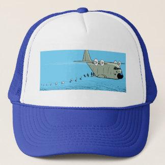 Fallschirmjäger-Cartoon-Kappe Herkules C-130 Truckerkappe