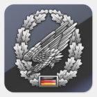 Fallschirmjägertruppe Barettabzeichen Quadratischer Aufkleber