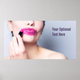 Falsch angewendetes Lippenstiftplakat 2 Poster