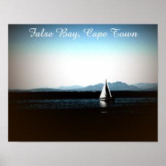 Falsche Bucht, Cape Town-Segelboot Poster