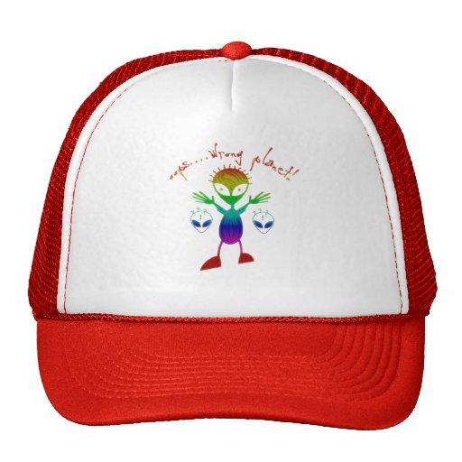 Falsche Planeten-alien-Hüte Retrokult Cap