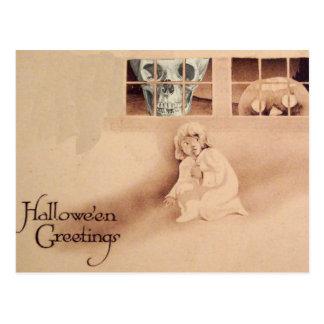 Falsche Schulter… Schädel-Kürbislaterne-Monster Postkarte
