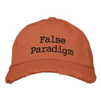 Falsches Paradigma Bestickte Baseballkappe
