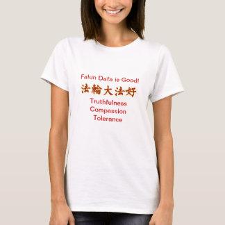 Falun Dafa ist im roten T - Shirt gut