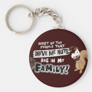 Familie der Nüsse Schlüsselanhänger