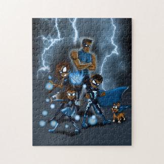 """Familie der Superhelder "" Puzzle"