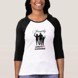 Familie, die den Spaß in das T-Stück der dysfunkti Shirt