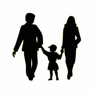 Familie, die HandSilhouette hält Freistehende Fotoskulptur