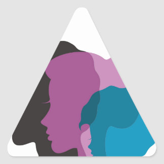 Familie Dreieckiger Aufkleber