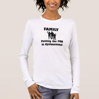 Familie dysfunktionell langärmeliges T-Shirt