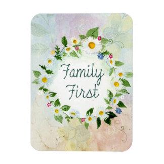"Familie erstes 3"""" Magnet des Foto-x4"