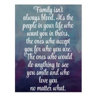 Familie ist nicht immer Blut-Zitat Postkarten