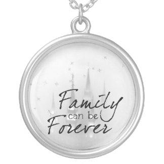 Familie kann Forever sein Versilberte Kette