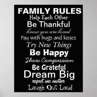 FAMILIE ORDNET Inspiration für eine glückliche Fa Posterdruck