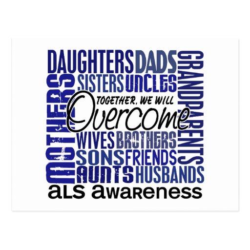 Familie quadratischer ALS Postkarte