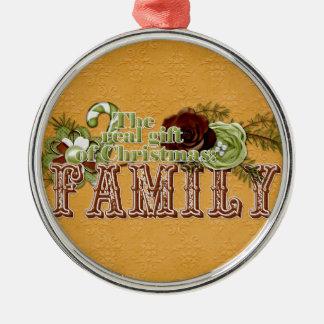 Familie Silbernes Ornament