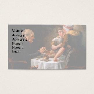 Familien-Abendessen Visitenkarte