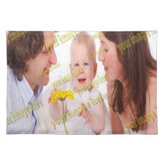 Familien-Bild-Erinnerungens-Foto-Schablone Tischset