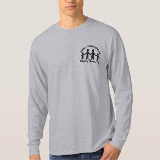 Familien-Chiropraktik-Logo gesticktes Shirt