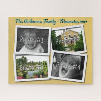 Familien-Erinnerungen 4 kundenspezifische Fotos x Puzzle