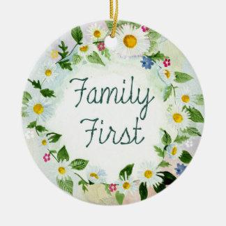 Familien-erste Blumenverkettungs-bunter Garten Keramik Ornament