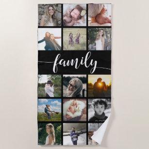Familien-Foto-Collage Strandtuch
