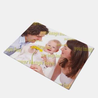 Familien-Foto-einfache Budget-Schablone Türmatte
