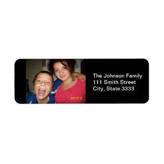 Familien-Foto-kundenspezifische Adressen-Etiketten