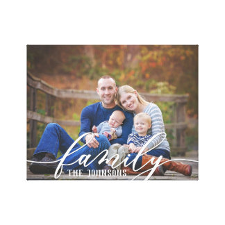 Familien-Foto-Leinwand Leinwanddruck