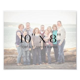 Familien-Fotos 10x8 SCHABLONE Fotodruck