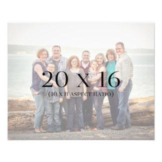 Familien-Fotos 20x16 SCHABLONE Fotodruck