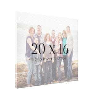 Familien-Fotos 20x16 SCHABLONE Leinwanddruck