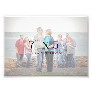 Familien-Fotos 7x5 SCHABLONE Fotodruck